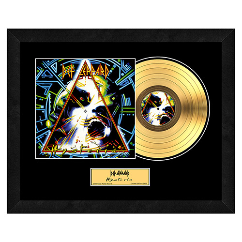 Hysteria Collectible Framed Gold LP