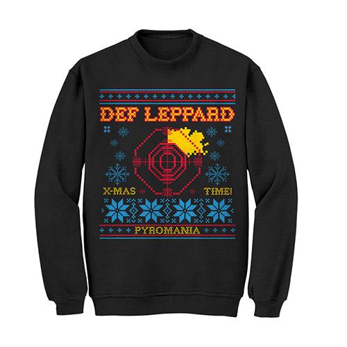 NEW - Ugly Def Leppard Christmas Crewneck Sweatshirt