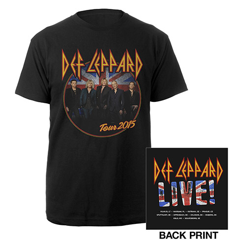 Def Leppard Photo/Itin Summer 2015 Black Tee