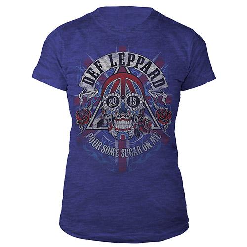 Def Leppard Ladies Skull 2015 Tour Tee