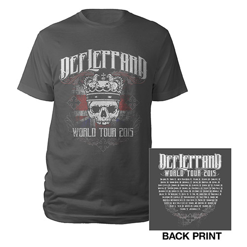 Def Leppard Crowned Skull Tour 2015 Tee