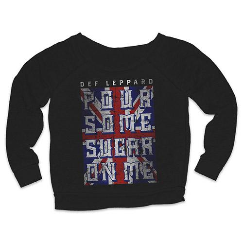 Pour Some Sugar On Me Flag Ladies Crewneck Sweat