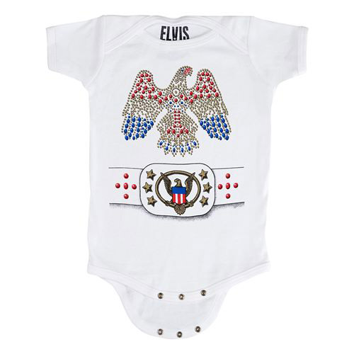 EP Elvis Jumpsuit White Onesie