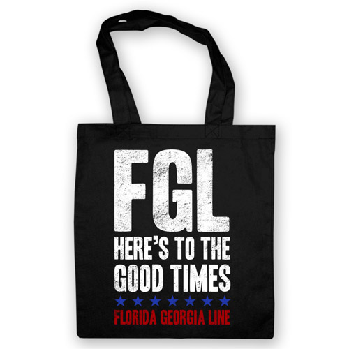 Here's To the Good Times Black Tote Bag
