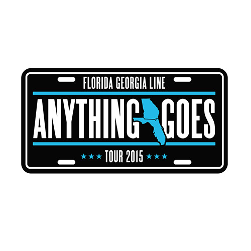 Anything Goes License Plate