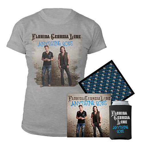 Anything Goes Women's Tee & CD Coozie and Bandana Bundle