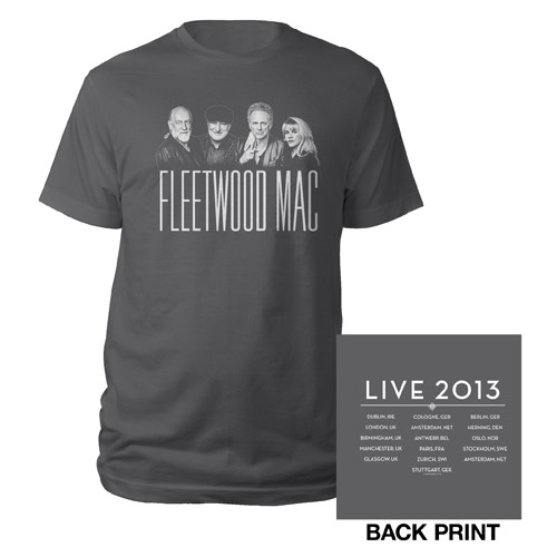 Official Fleetwood Mac Live European Tour Tee