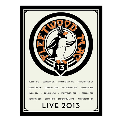 Official Fleetwood Mac Live European Tour Poster