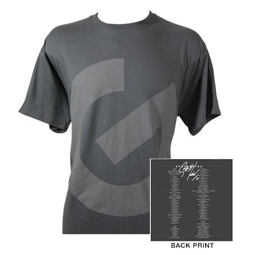 G Logo/Itinerary Charcoal T-shirt