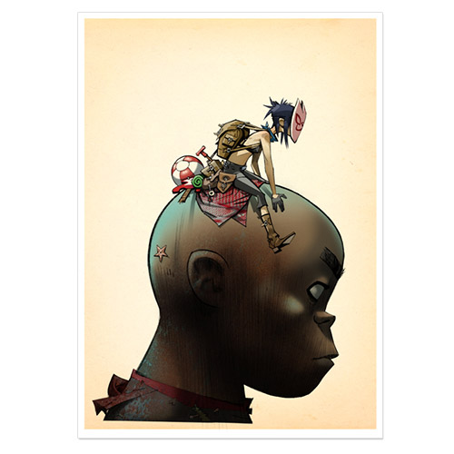 Gorillaz Giants Head Lithograph - Limited Collector's Edition 1/150