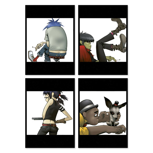 Exclusive - Gorillaz 4 Postcard Set