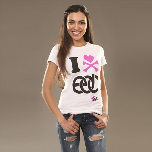 EDC I Heart Junior Tee White