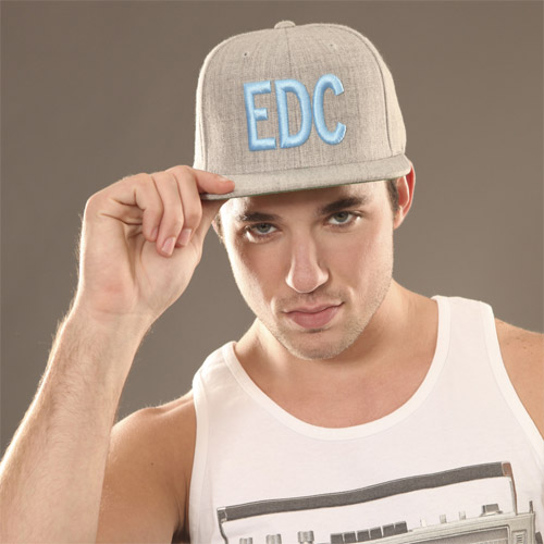 EDC Massiv Hat Grey/Teal