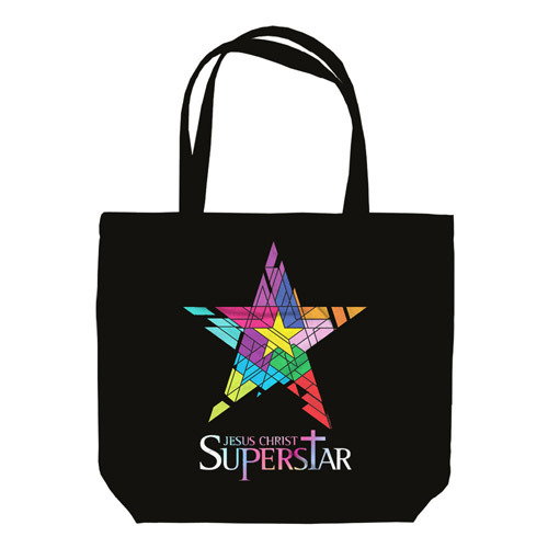 Jesus Christ Superstar Logo Black Tote Bag