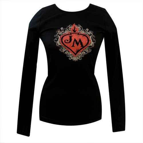 Eden Is Burning Flaming Heart Ladies Long-Sleeve T-Shirt