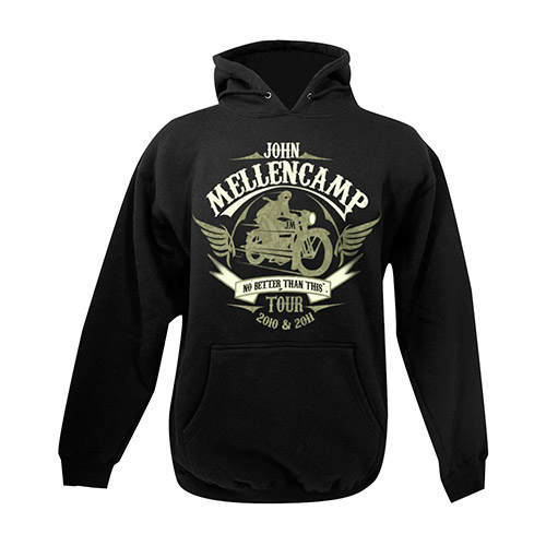 John Mellencamp 2010-2011 Black Motorcycle Hooded Sweatshirt