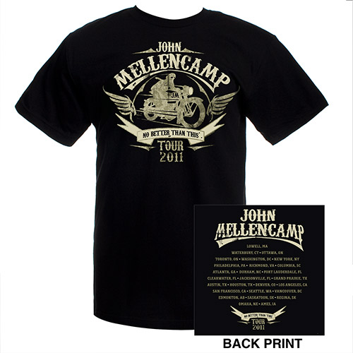 John Mellencamp 2011 Black Motorcycle Tee