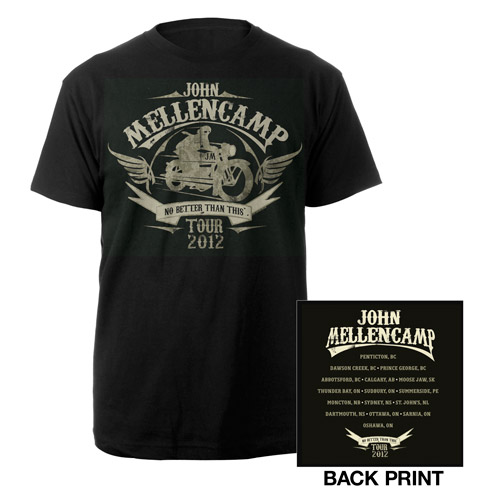 John Mellencamp Motorcycle 2012 Tour Tee