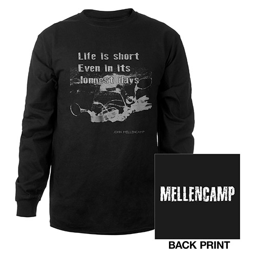 Black long Sleeve Life is short tee