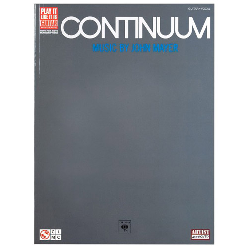 John Mayer Continuum Play-It-Like-It-Is Piano/Vocal/Guitar Songbook