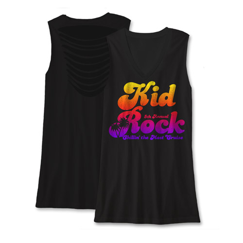Kid Rock Chillin' The Most 2014 Ladies V Neck Tank Top