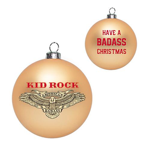 Kid Rock Badass Christmas Ornament
