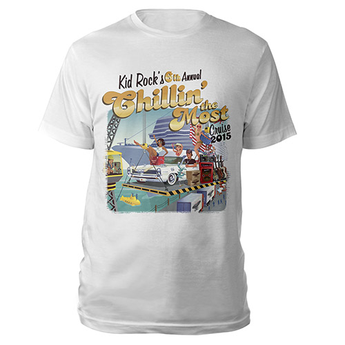 Kid Rock 6th Annual Chillin' the Most Cruise 2015 Tee
