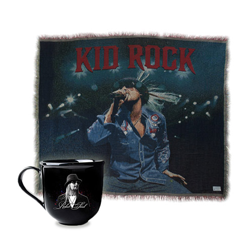 Kid Rock Throw Blanket & Mug Bundle Special - $77.95