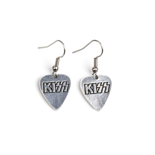 KISS Guitar Pick Earrings