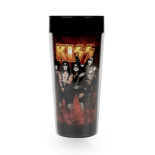 KISS 16oz. Plastic Travel Mug