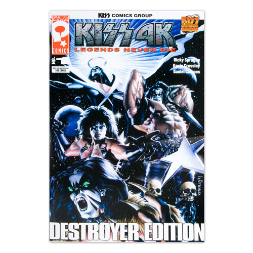 Limited Edition Extra Large White Bar KISS Destroyer Comic #1