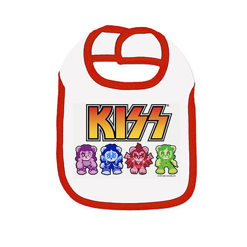 KISS Bears Baby Bib