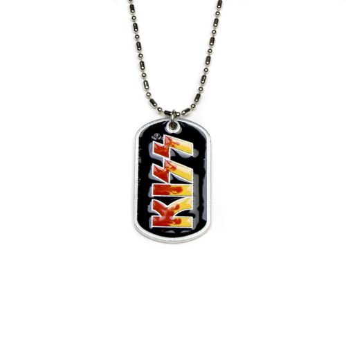 KISS Metal Band Logo Dog Tag