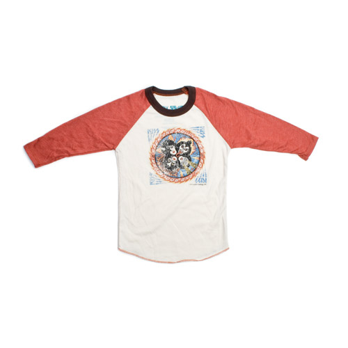 Ultra Soft Vintage Style Rock 'N' Roll Over Raglan Toddler Tee