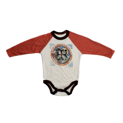 Ultra Soft Vintage Style Rock 'N' Roll Over Raglan Onesie