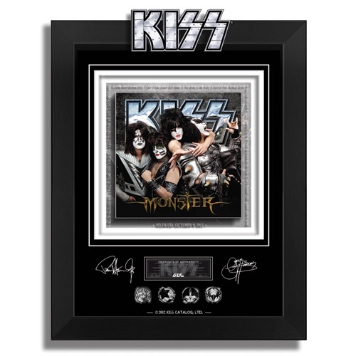 KISS MONSTER ARCHIVAL ETCHED GLASS - FRAMED