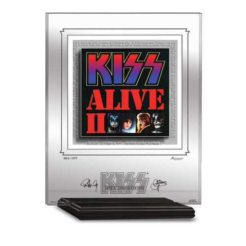 KISS ALIVE II ARCHIVAL ETCHED GLASS - MANTELPIECE
