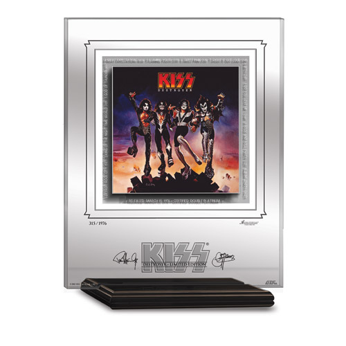 KISS DESTROYER ARCHIVAL ETCHED GLASS - MANTELPIECE