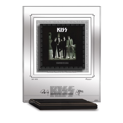 KISS DRESSED TO KILL ARCHIVAL ETCHED GLASS - MANTELPIECE