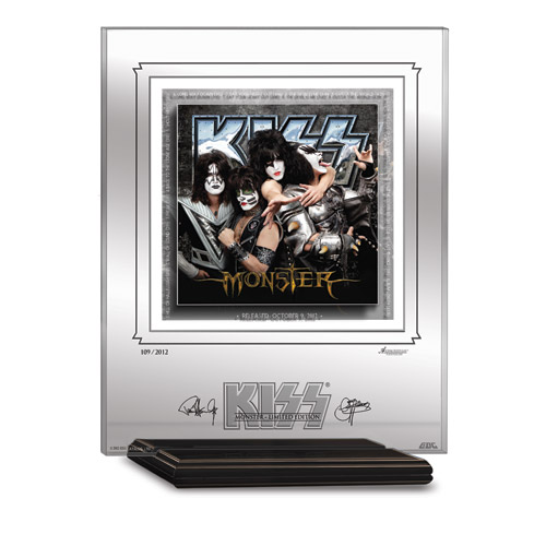 KISS MONSTER ARCHIVAL ETCHED GLASS - MANTELPIECE