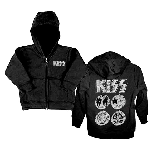 New - KISS Sketch Toddler Zip-Up Hoodie