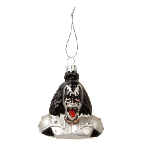 Glass Demon Bust Ornament