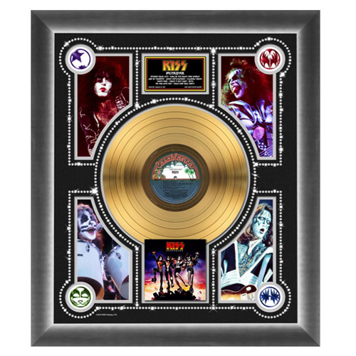 New - KISS Destroyer Collectible Framed Gold LP