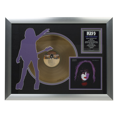 New - Solo Starchild Collectible Framed Gold LP