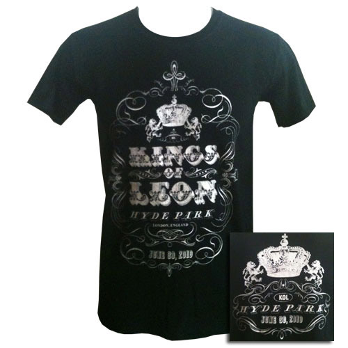Kings of Leon Hyde Park Event T-shirt