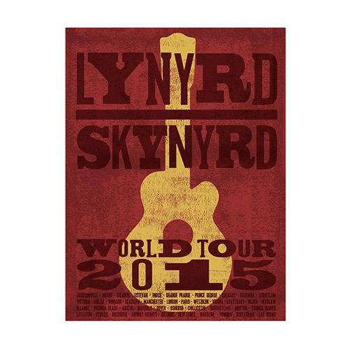 Lynyrd Skynyrd 2015 World Tour Poster
