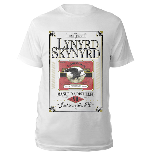 Manufactured and Distilled Whiskey Label Tee