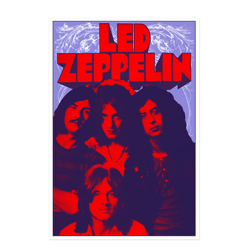 Band Promo Photo from 1969 Numbered 18x24 Screen Print