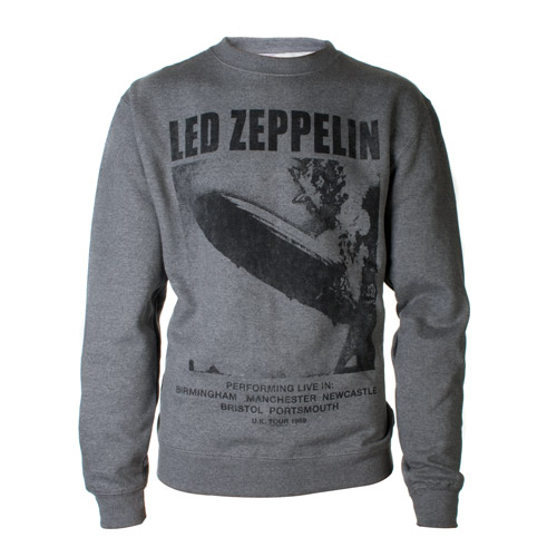 UK Tour 1969 LZ I Heather Grey Crewneck Sweatshirt
