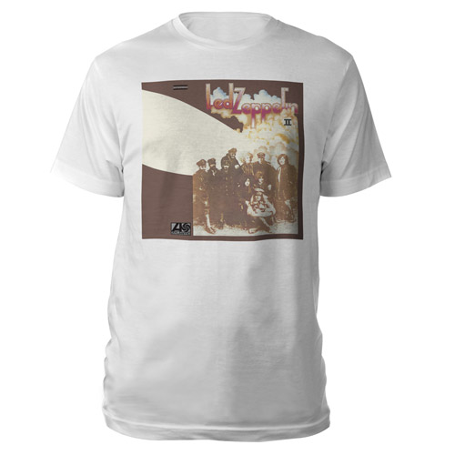 Led Zeppelin II Album White T-Shirt